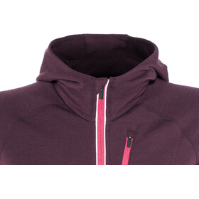 Icebreaker Quantum LS Zip Hood Jacket Women Velvet/Prism